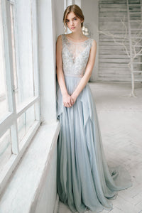 Sleeveless Floor-length Bridesmaid Dress With Lace And Beading-105671