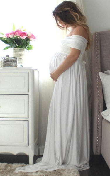 Maternity Gown Long Infinity Maternity The Wrap Babydoll Dress-106495