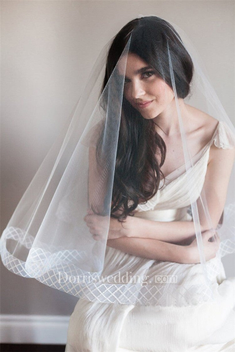 New Simple Short Korean Style Cover Tulle High-End Wild Veil