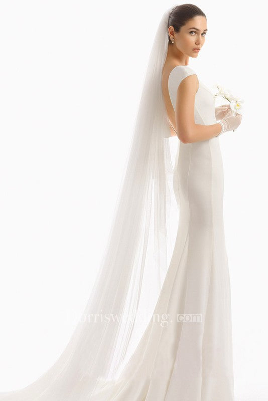 Bridal Veil With Hair Comb Long Tail Simple Wedding Veils Super Soft