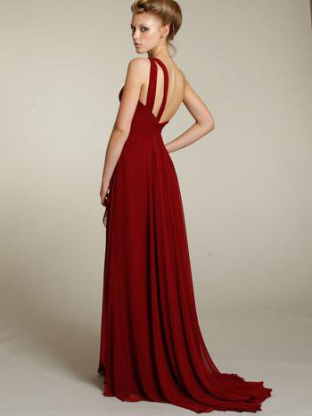Elegant One Shoulder Long Chiffon Prom Dress