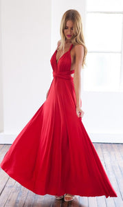 Sexy A-line Sleeveless Red Detached Prom Dress Floor-length-323354