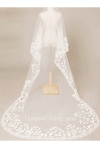 New Korean Style Romantic Flower 3 Meters Long Veil