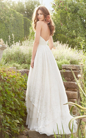 Angelic Sweetheart Neckline Crisscross Ruched Bodice a Line Lace Dress-702123