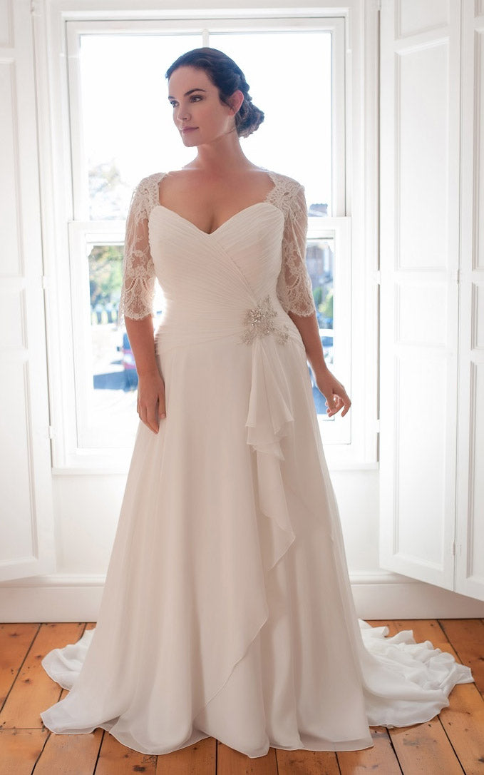 {DorrisDress}{Plus Size Wedding Dress}-{714716}-front