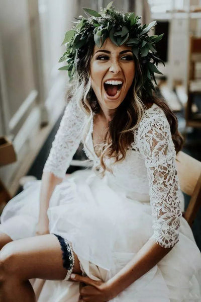 {DorrisDress}{Wedding Dress}-{715569}-bride laughing in her wedding dress