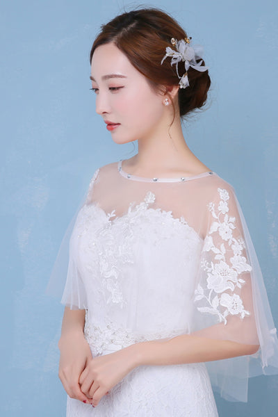 New Sweet Lace Round Neck Cape Shawl-840208