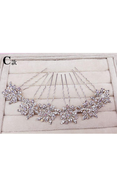 Bride Jewelry Rhinestone Headdress Hairpin Jewelry-860037