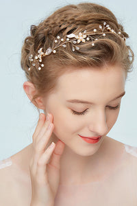 Pearly Headdress Simple Style Wedding Headdress-860182