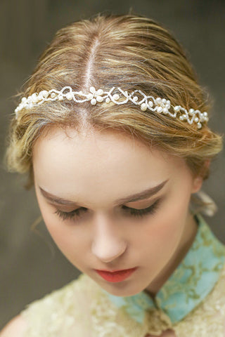 Western Style Bride Headdress Korean Crystal Handmade Headdress Headdress-860194