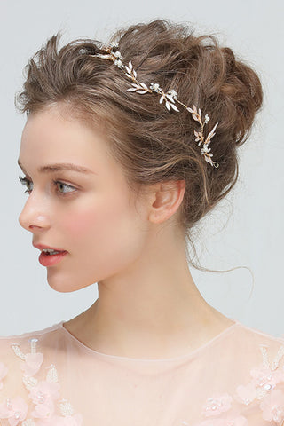 Golden Flower Headband Hairpin Hair Kit-860320