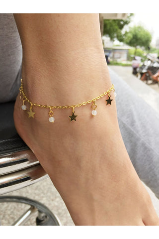 South Korea Popularity Hot Fashion Single Crystal Clear Anklet-860382