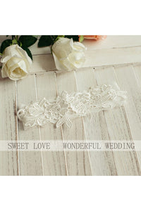 Hot Sale Sweet Style White Lace Princess Style Elastic Garter With Within 16-23 inches-860488