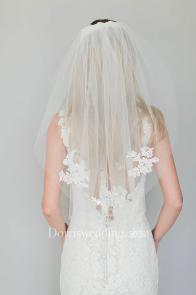 Bride Single Layer Soft Yarn Wedding Short Tulle Veil Accessories