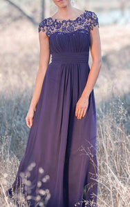 Latest Illusion Purple Bridesmaid Dress-ET_329095