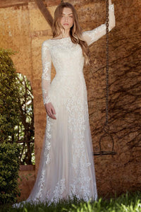 sheath-long-sleeve-high-neck-tulle&lace-wedding-dress-with-sweep-train-MK_703212