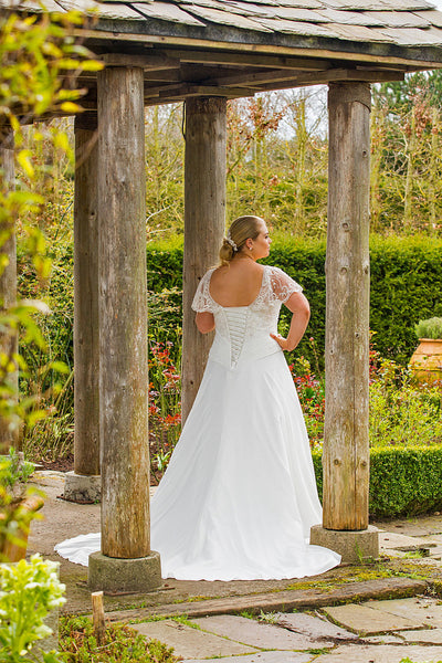 Delicate Iris Wedding Dress