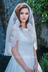 Simple Single Layer Soft Yarn Bride Veil Wedding Bridal Style With Insert Comb