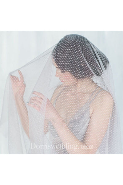 New Simple Personality Diamond Mesh Hard Mesh Veil
