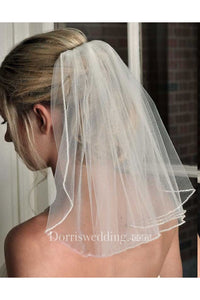 New Travel Bridal Veil Short Simple Wedding Veils Super Fairy Veil Headdress