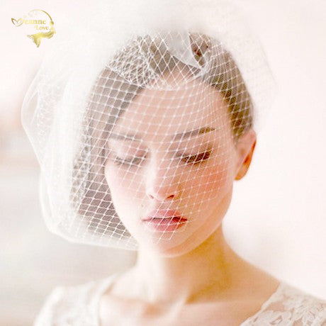 White Black Tulle Cap Bird Cage Wedding Accessories Veil Bridal Birdcage Wedding Veils Short Bridal Accesories Hot Sale BC0001