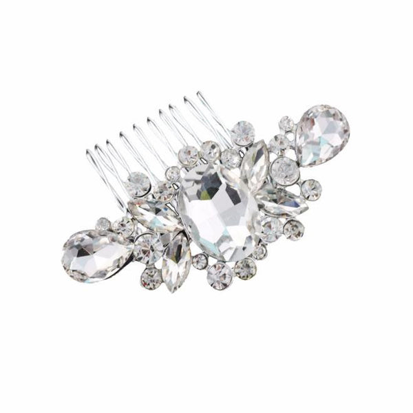 Bridal Wedding Diamond Pearl Hairpin Hair Clip Comb Jewelry