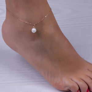 Sexy Women Pearl Bead Ankle Chain Anklet Bracelet Foot Jewelry Sandal Beach