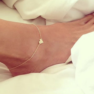 Simple Heart Ankle Bracelet Beach Foot Sandal Jewelry