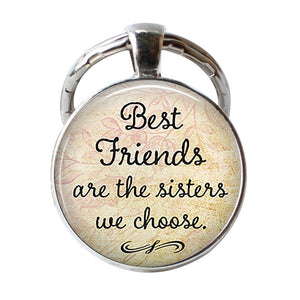 Friendship Key Chains Best Friends Pendant Quote Keychain