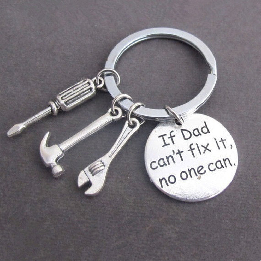 NEW Silver Keyring Hand Tools Keychain Gift For Dad