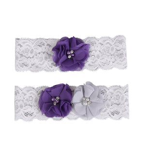 Bridal Wedding Garter Lace Flower Garters Decorations for Bride and Bridesmaid