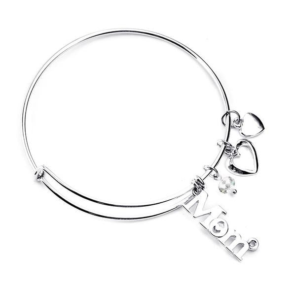 Silver Bangle : Mom love