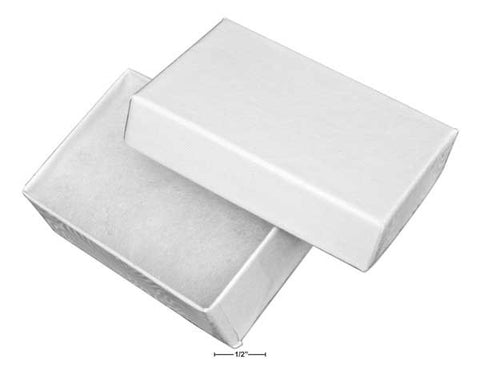 "White Cotton Filled Gift Box 2 1/2"" X 1 5/8"" X 7/8"""