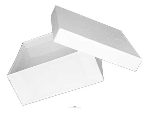 "White Cotton Filled Gift Box 3 1/2"" X 3 1/2"" X 1 1/2"""
