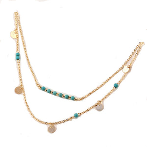 Unique Turquoise Layer Necklace