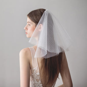 SLBRIDAL Multi-Layer Wedding Veils With Combs Ivory Bridal Veils Wedding Wear Accessories For Bride Mariage Women