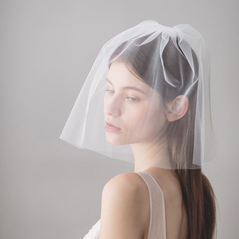 SLBRIDAL Two-Layer Wedding Veils With Combs Ivory Bridal Veils Wedding Wear Accessories For Bride Mariage Women