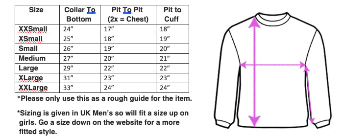 puma clothing size chart uk