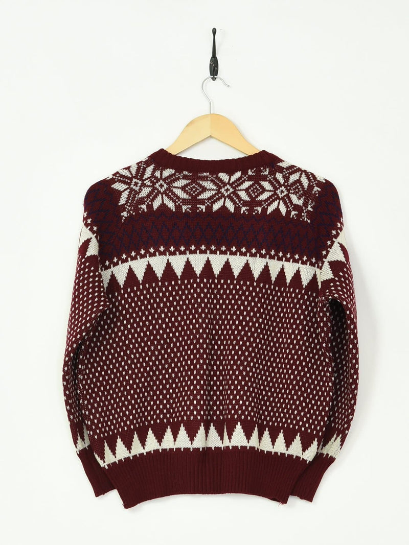 Knitted Sweater Maroon XXSmall - BLOC Vintage Clothing
