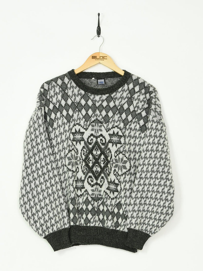 Knitted Sweater White Small - BLOC Vintage Clothing