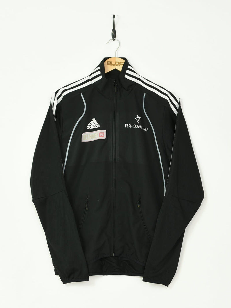Adidas Tracksuit Top Black Small - BLOC Vintage Clothing