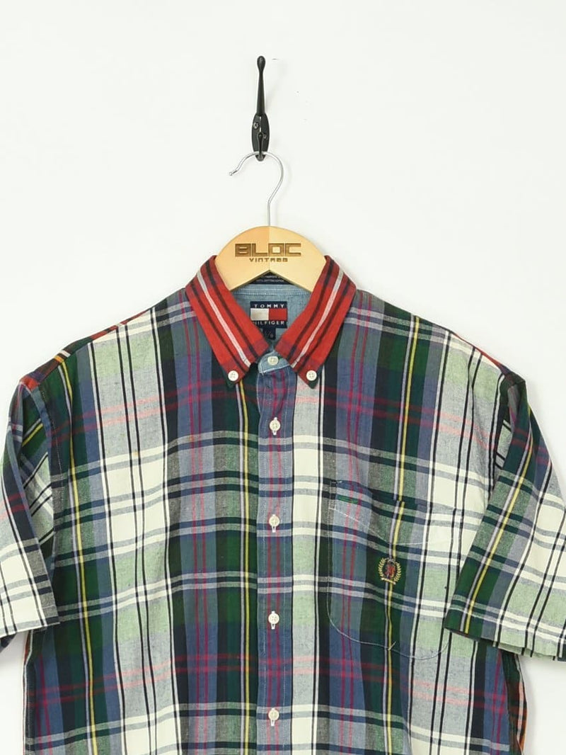 Tommy Hilfiger Shirt Green Small - BLOC Vintage Clothing