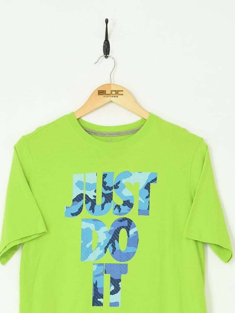 Nike T-Shirt Green Medium - BLOC Vintage Clothing