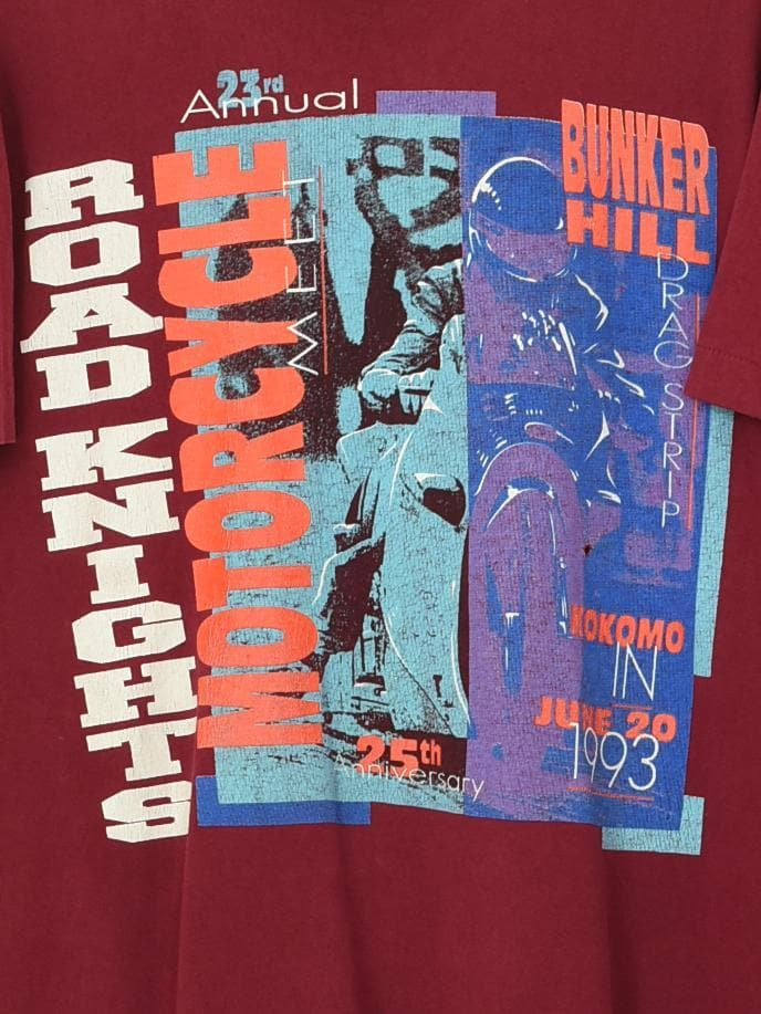1993 Road Knight T-Shirt Maroon XLarge - BLOC Vintage Clothing