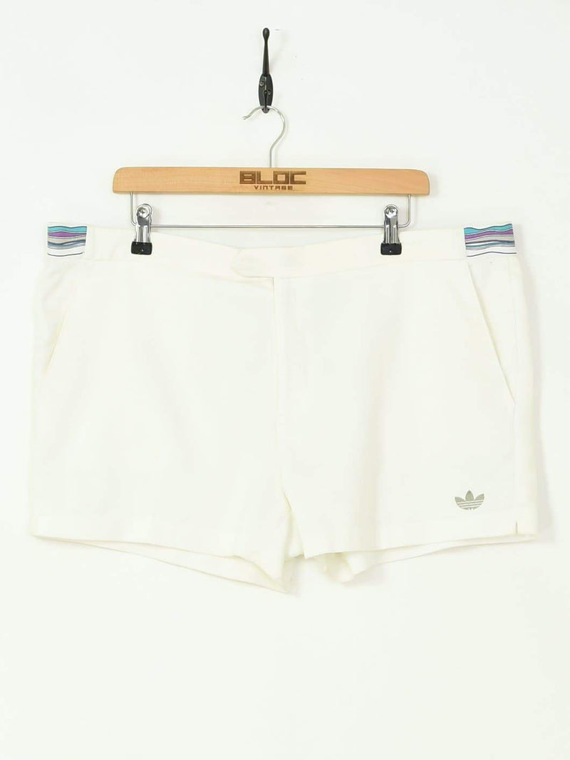 Adidas Tennis Shorts White XXXLarge - BLOC Vintage Clothing