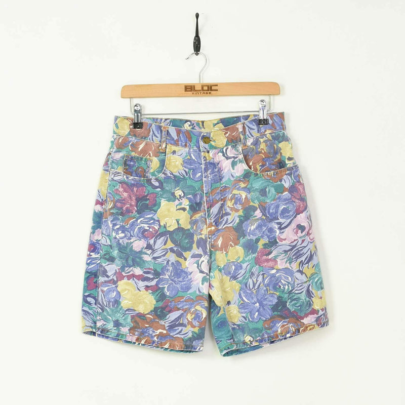 High Waisted Womens Shorts Purple Small - BLOC Vintage Clothing
