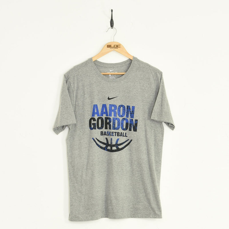 Nike Aaron Gordon T-Shirt Grey Large - BLOC Vintage Clothing
