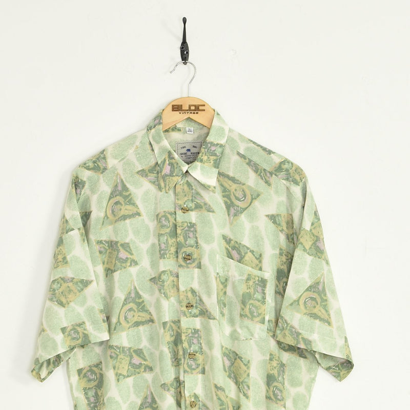 Abstract Shirt Green XXLarge - BLOC Vintage Clothing