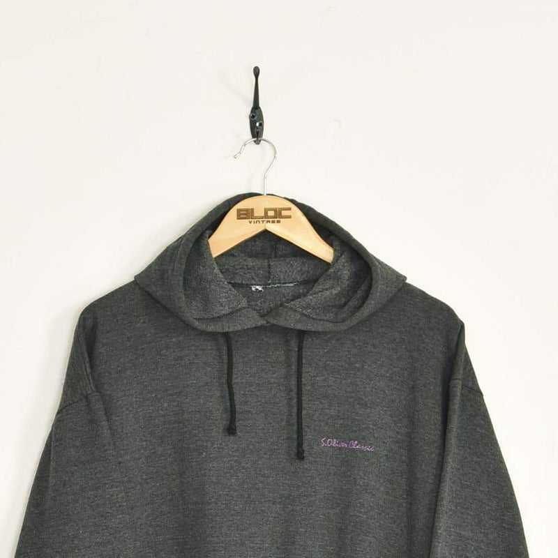 Oliver Classics Hooded Sweatshirt Grey Medium - BLOC Vintage Clothing