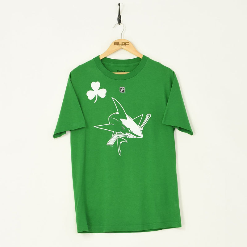 Reebok T-Shirt Green Medium - BLOC Vintage Clothing
